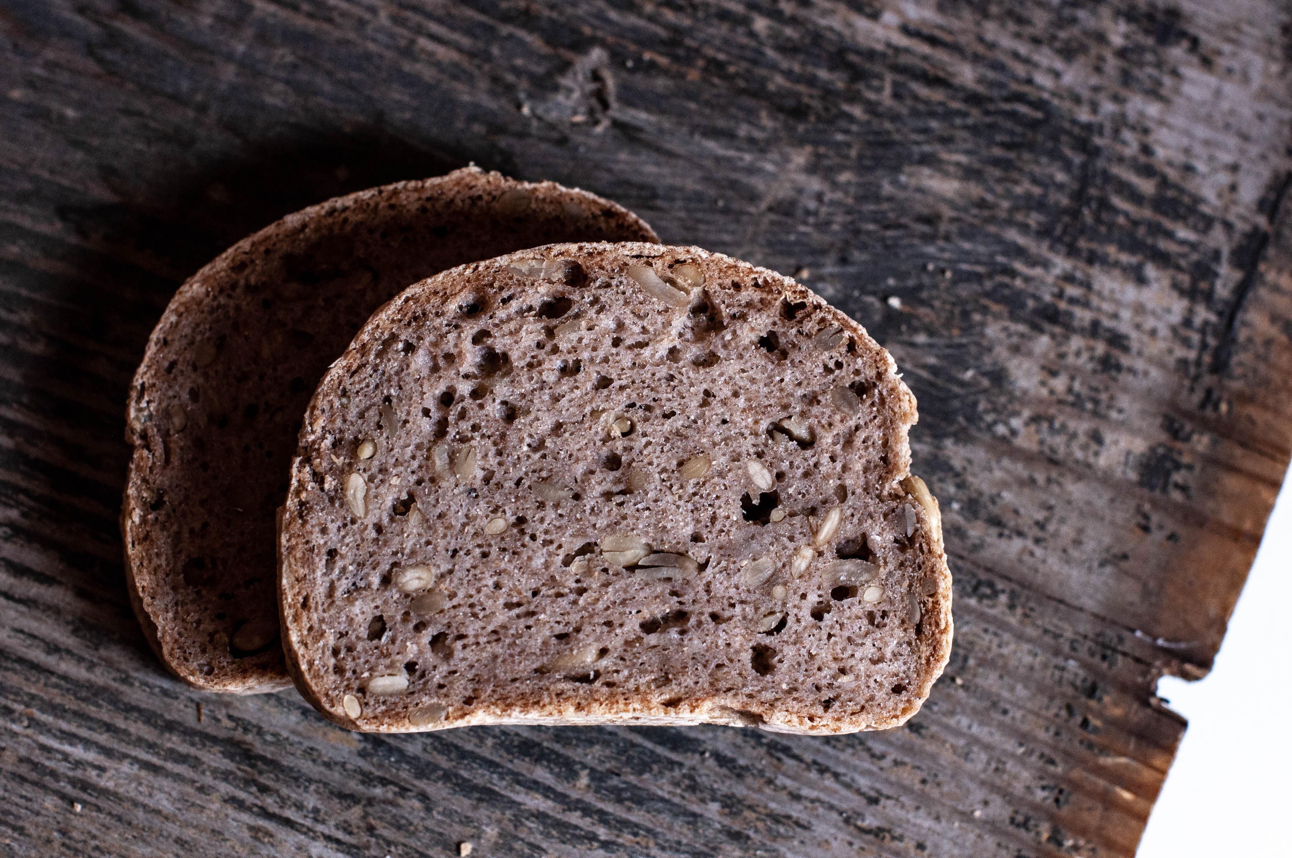 chleb bezglutenowy, chleb bez drożdży, chleb wegański, chleb słonecznikwy, bez glutenu, bez drożdży, alergia pokarmowa, nietolerancja pokarmowa