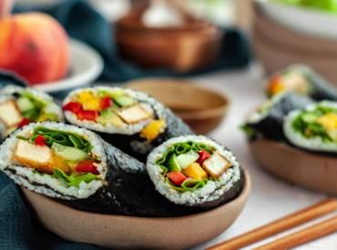 sushi, sushi rolls, wegańskie sushi
